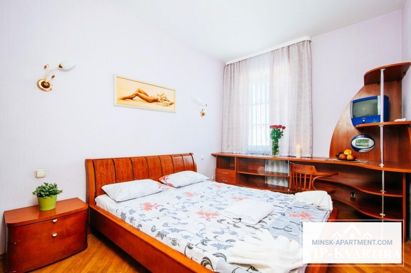Bedroom of the Apartment in the Center of Minsk Belarus