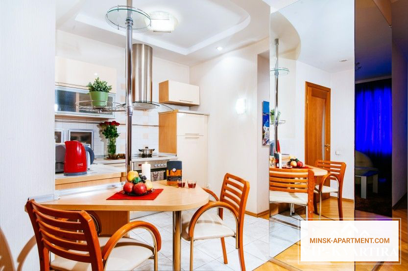 Kitchen of the Apartment in the Center of Minsk Belarus