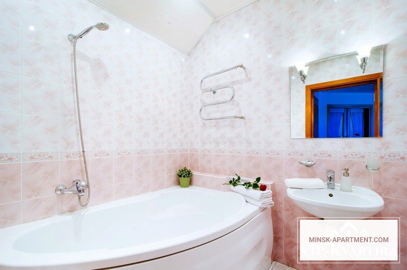 Bathroom of the Apartment in the Center of Minsk Belarus